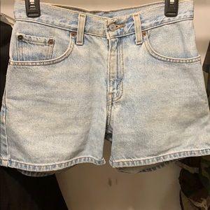 Levi's light blue jean shorts